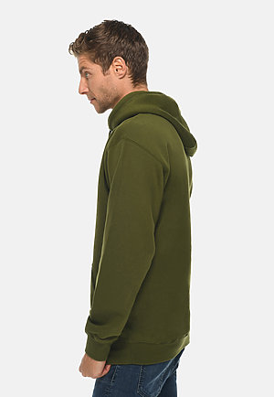 Premium Pullover Hoodie ARMY GREEN side
