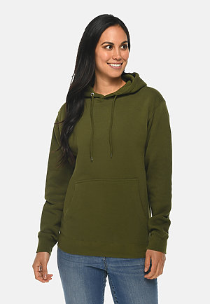 Premium Pullover Hoodie ARMY GREEN frontw