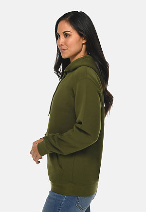 Premium Pullover Hoodie ARMY GREEN sidew