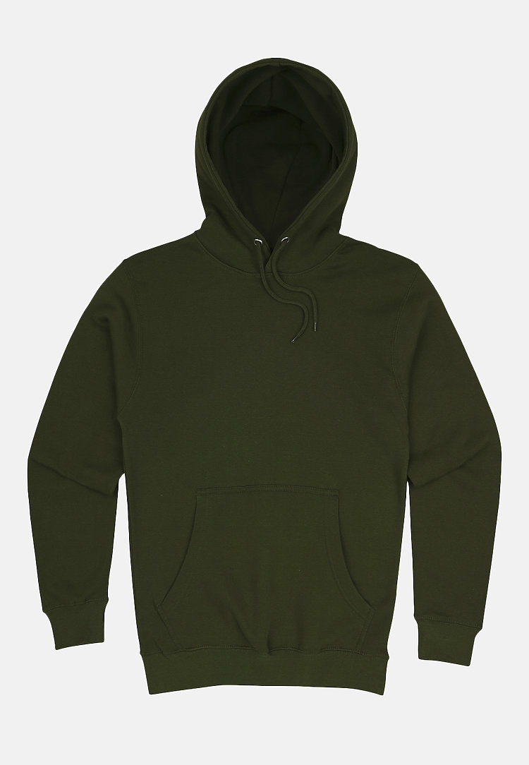 Premium Pullover Hoodie ARMY GREEN flat
