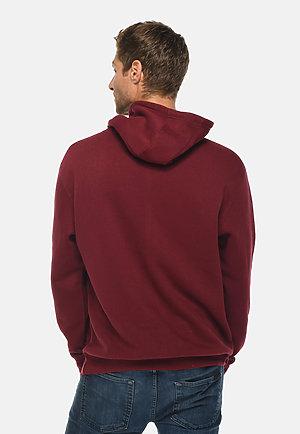 Premium Pullover Hoodie BURGUNDY back