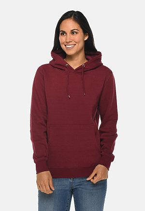 Premium Pullover Hoodie BURGUNDY frontw