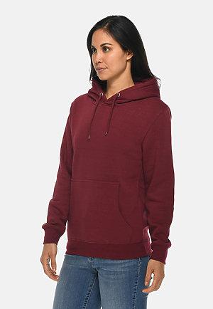 Premium Pullover Hoodie BURGUNDY sidew