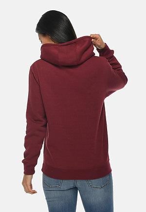 Premium Pullover Hoodie BURGUNDY backw