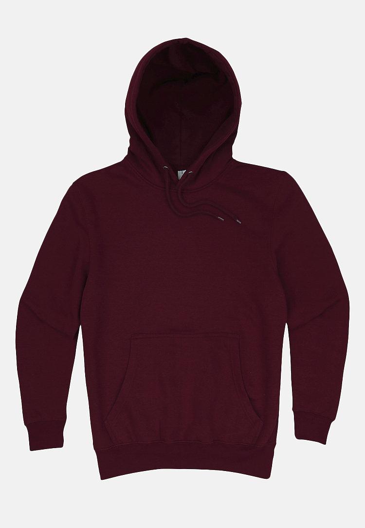Premium Pullover Hoodie BURGUNDY flat