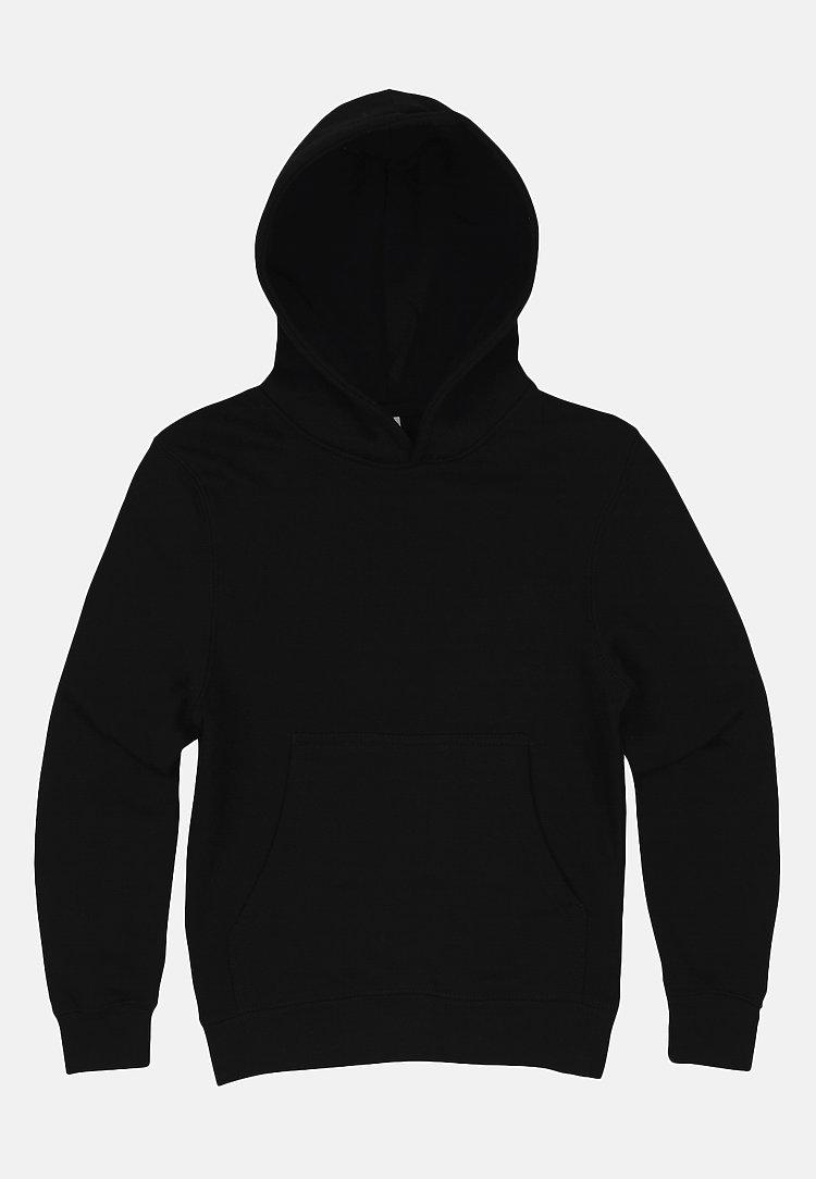 Premium Pullover Hoodie BLACK flat