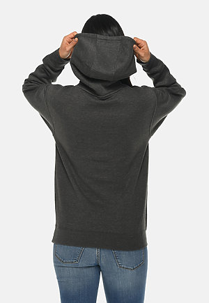 Premium Pullover Hoodie CHARCOAL HEATHER backw