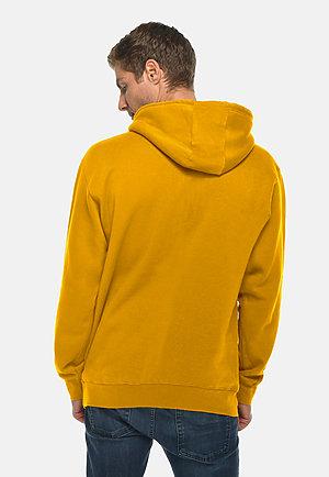 Premium Pullover Hoodie MUSTARD back