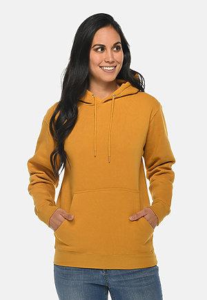 Premium Pullover Hoodie MUSTARD frontw