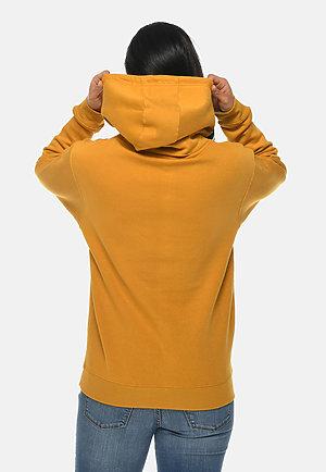 Premium Pullover Hoodie MUSTARD backw
