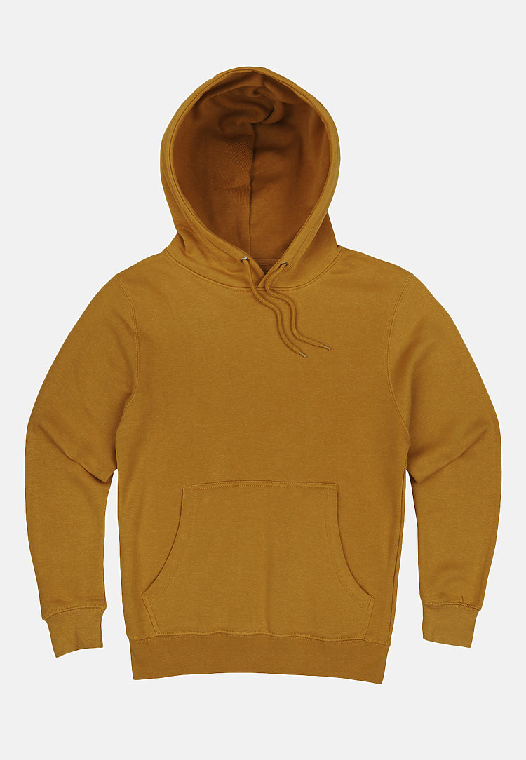 Premium Pullover Hoodie MUSTARD flat