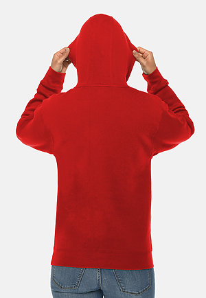 Premium Pullover Hoodie RED backw
