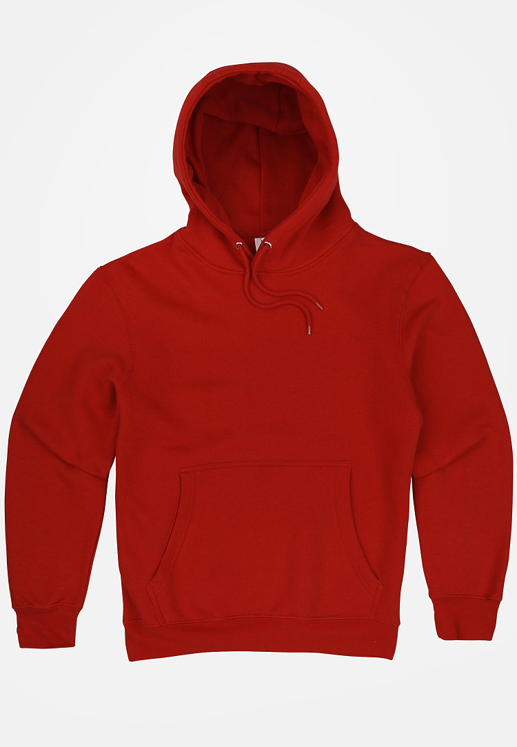 Premium Pullover Hoodie RED flat