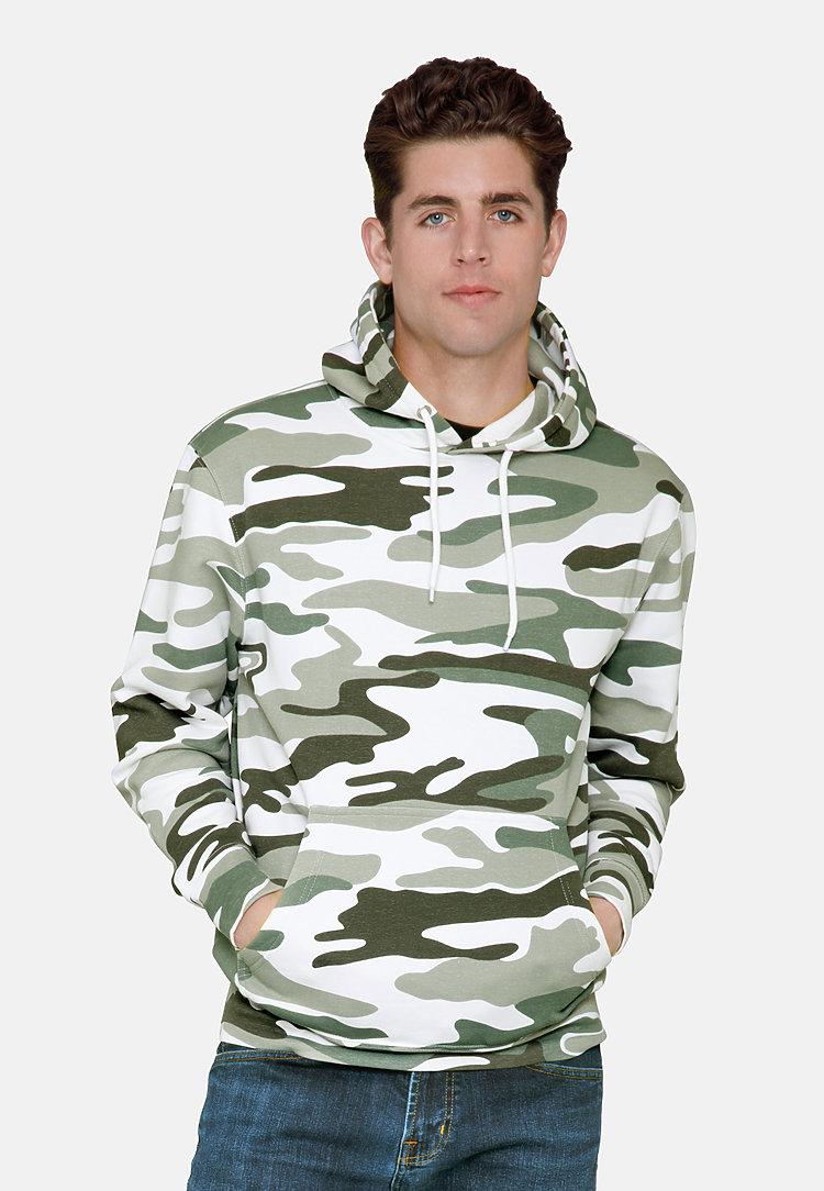 Premium Pullover Hoodie SAGE CAMO front