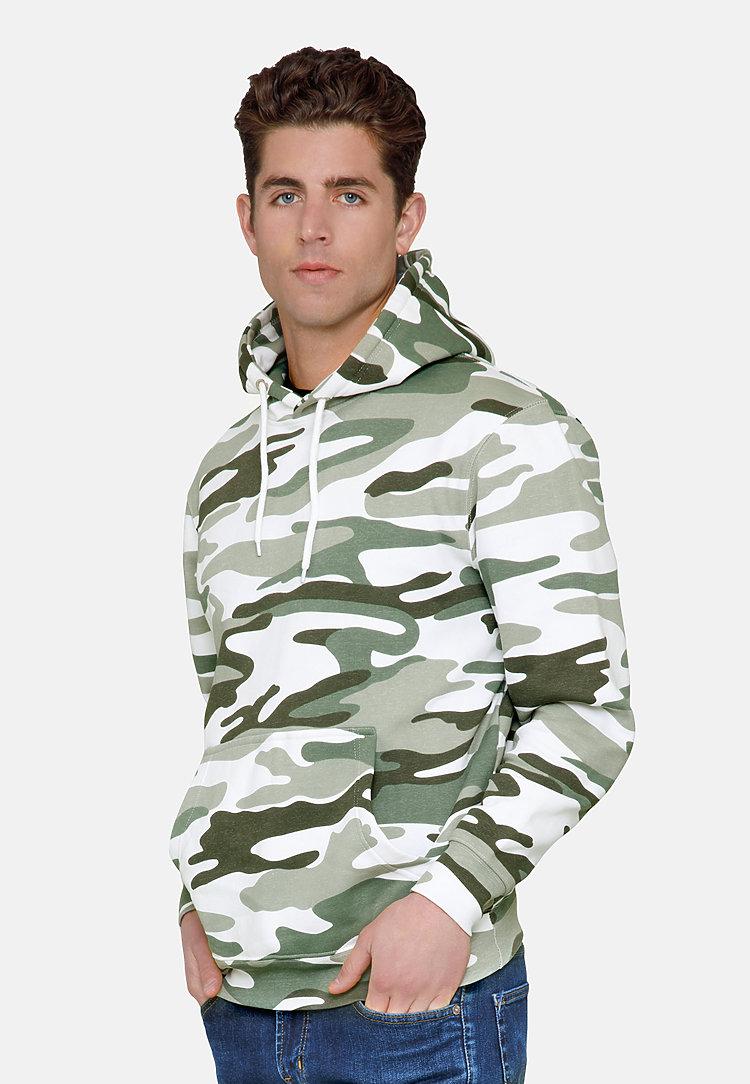 Premium Pullover Hoodie SAGE CAMO side