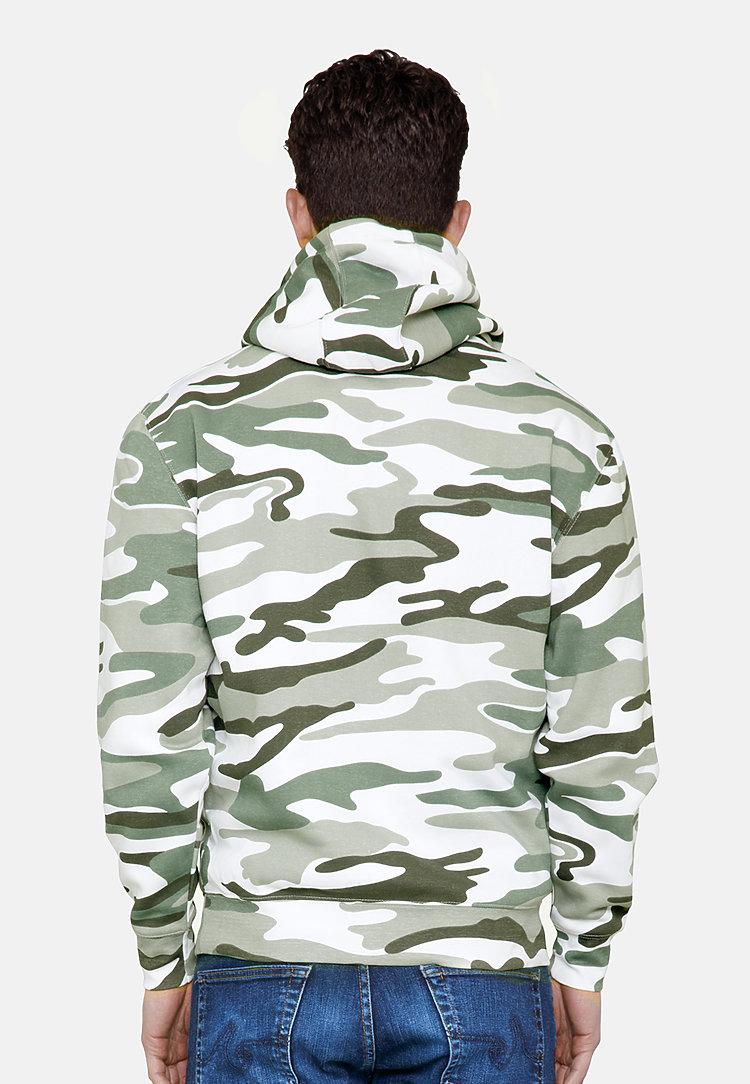 Premium Pullover Hoodie SAGE CAMO back