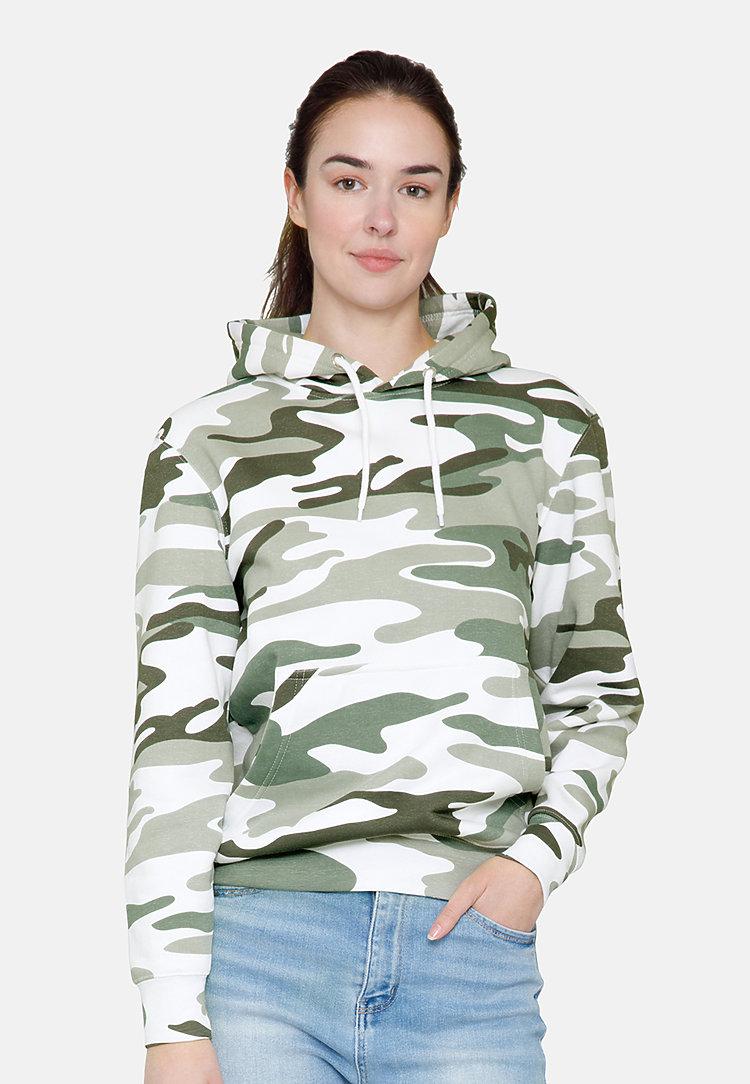 Premium Pullover Hoodie SAGE CAMO frontw