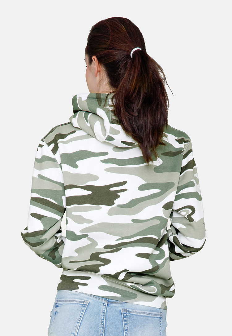Premium Pullover Hoodie SAGE CAMO backw