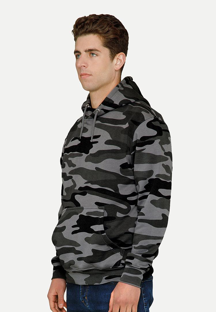 Premium Pullover Hoodie SLATE CAMO side