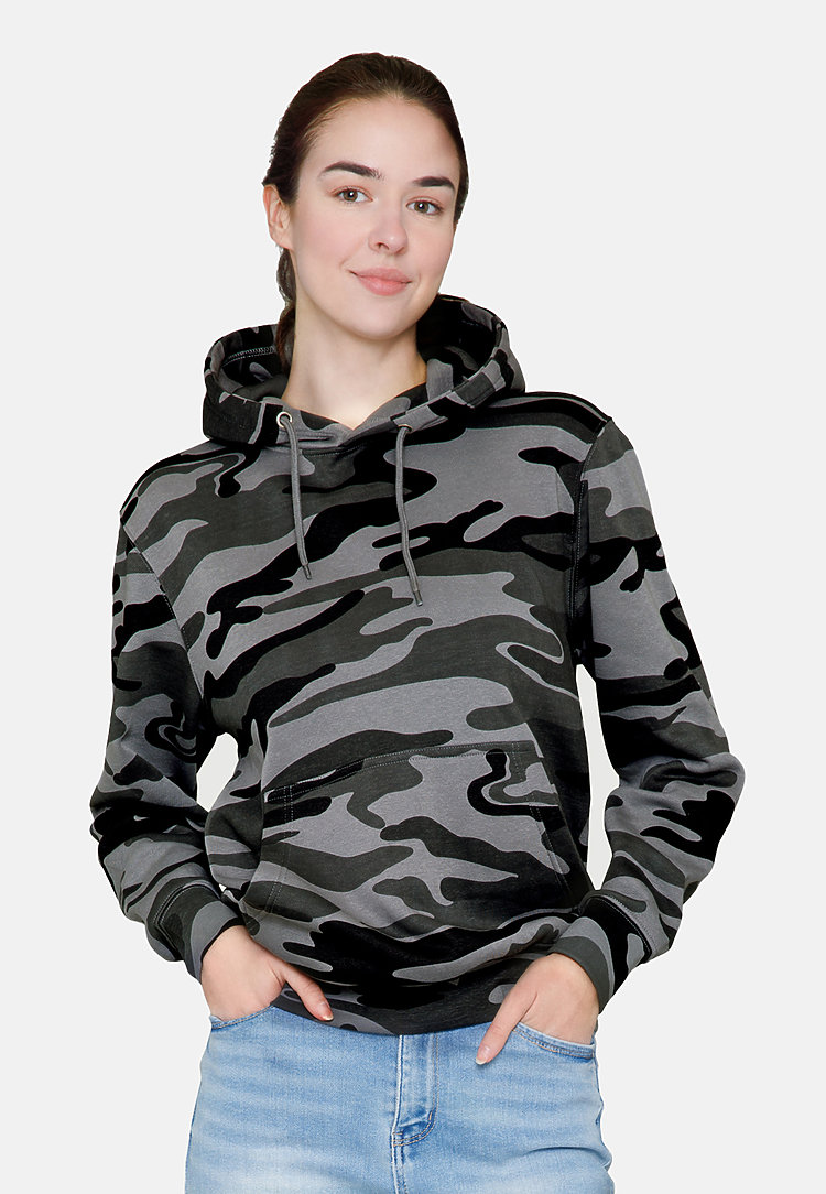 Premium Pullover Hoodie SLATE CAMO frontw