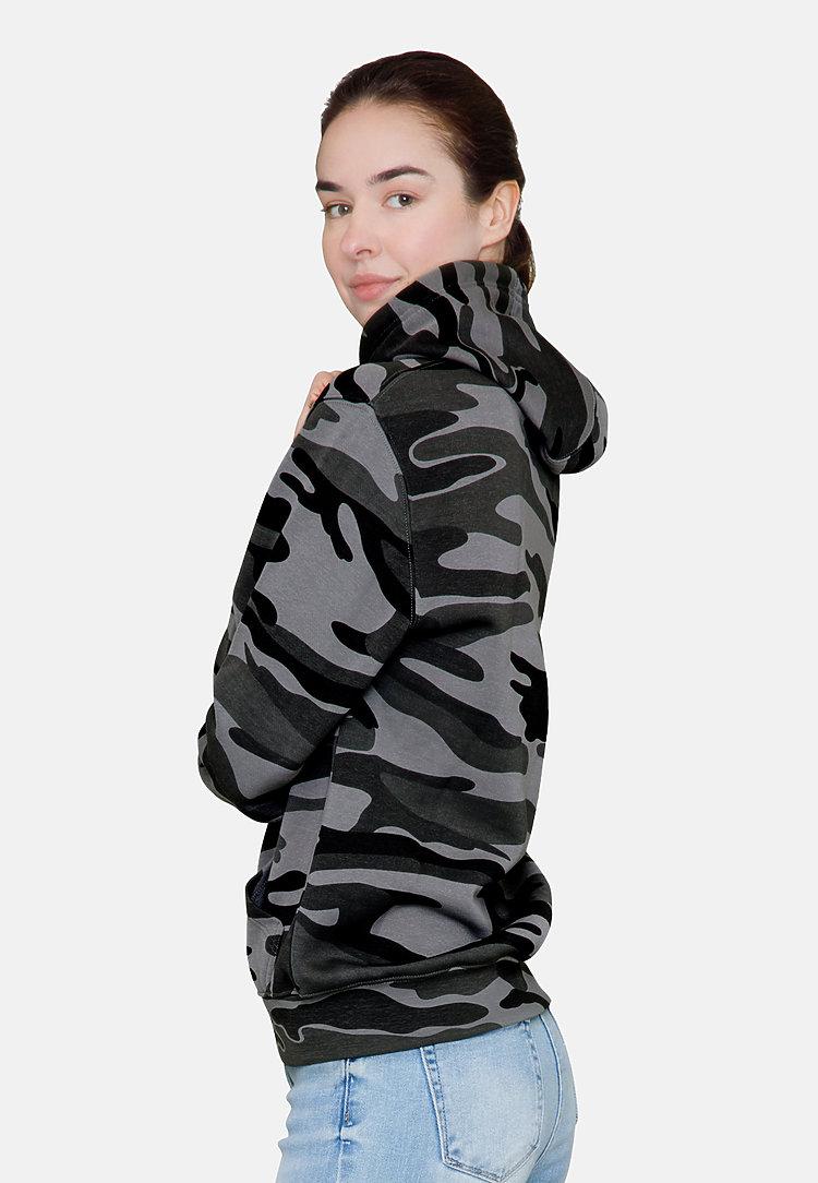 Premium Pullover Hoodie SLATE CAMO sidew
