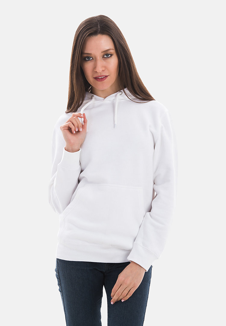Premium Pullover Hoodie WHITE frontw