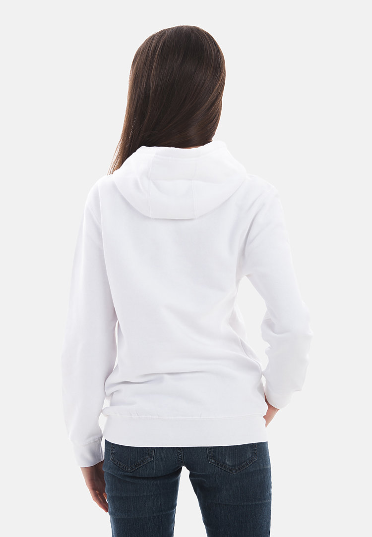 Premium Pullover Hoodie WHITE backw