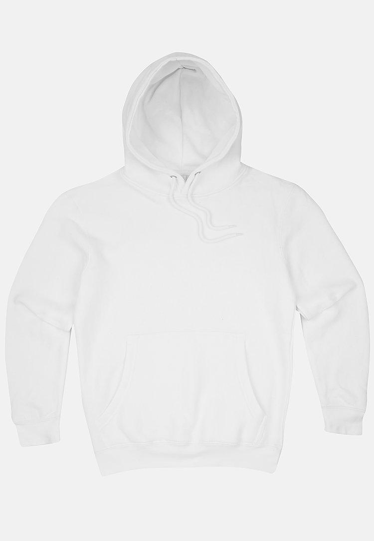 Premium Pullover Hoodie WHITE flat