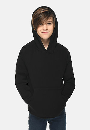 Premium Youth Hoodie BLACK front