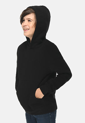 Premium Youth Hoodie BLACK side