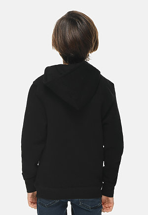 Premium Youth Hoodie BLACK back