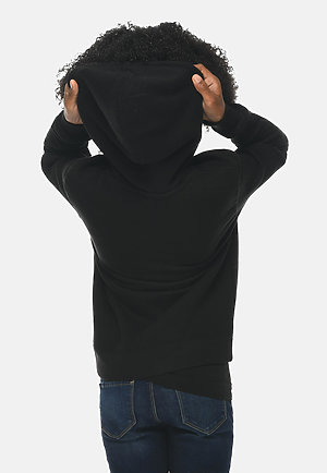Premium Youth Hoodie BLACK backw