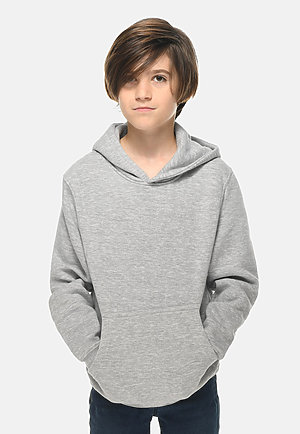 Premium Youth Hoodie HEATHER GREY front
