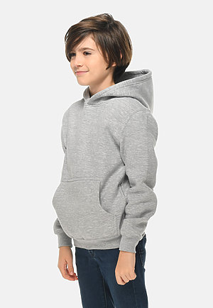 Premium Youth Hoodie HEATHER GREY side