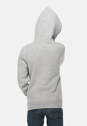 Premium Youth Hoodie HEATHER GREY back