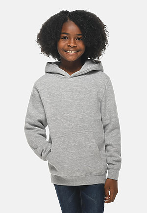 Premium Youth Hoodie HEATHER GREY frontw