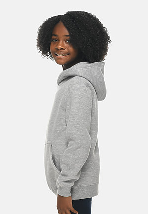 Premium Youth Hoodie HEATHER GREY sidew