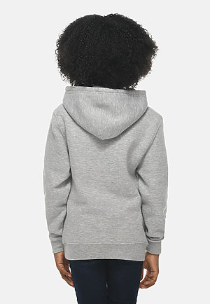 Premium Youth Hoodie HEATHER GREY backw