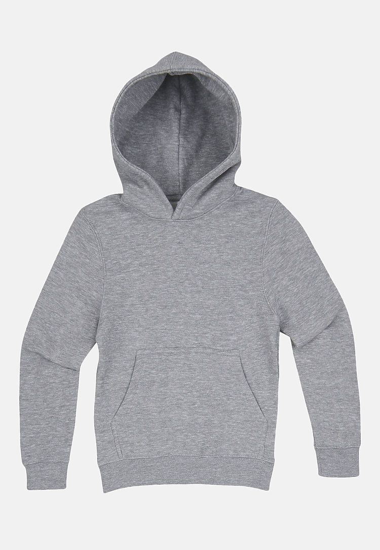 Premium Youth Hoodie HEATHER GREY flat