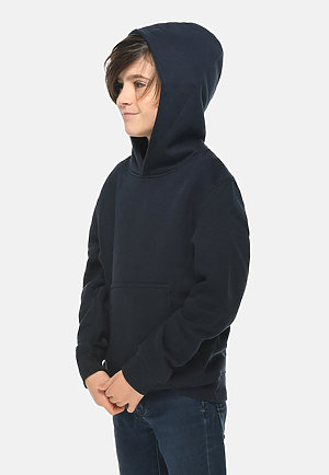 Premium Youth Hoodie NAVY BLUE side