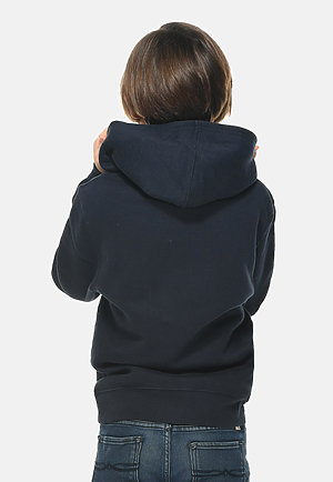 Premium Youth Hoodie NAVY BLUE back