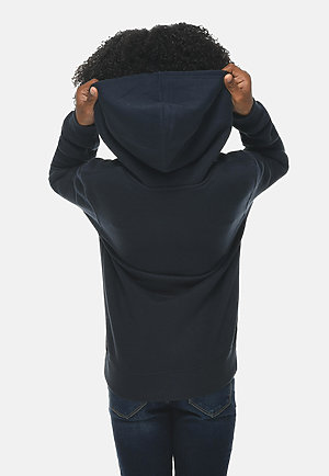 Premium Youth Hoodie NAVY BLUE backw