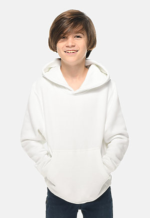 Premium Youth Hoodie WHITE front