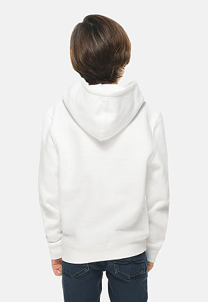 Premium Youth Hoodie WHITE back