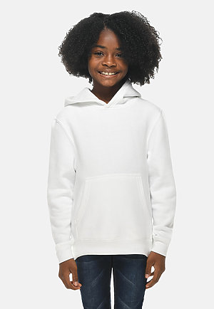 Premium Youth Hoodie WHITE frontw