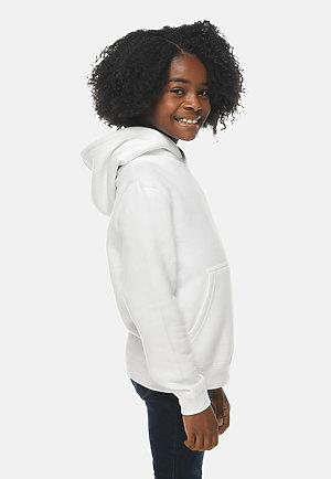 Premium Youth Hoodie WHITE sidew