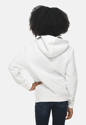 Premium Youth Hoodie WHITE backw
