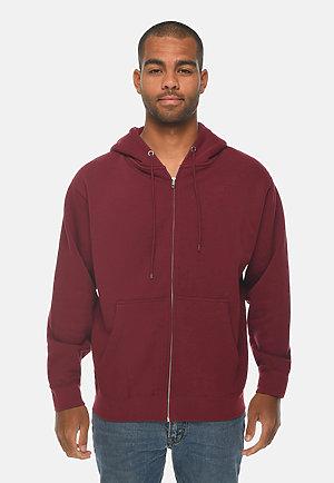Premium Full Zip Hoodie BURGUNDY front