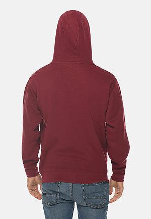 Premium Full Zip Hoodie BURGUNDY back
