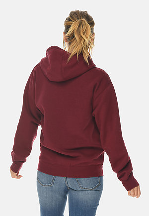 Premium Full Zip Hoodie BURGUNDY backw